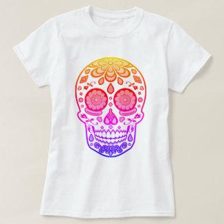 Camisa colorida brilhante do crânio do açúcar dos