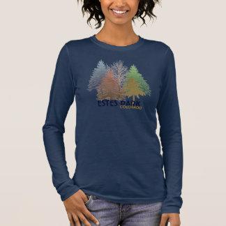 Camisa colorida das árvores de Colorado do parque