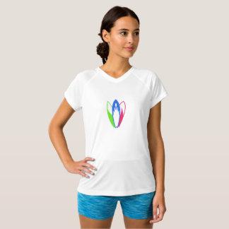 Camisa colorida de três prancha