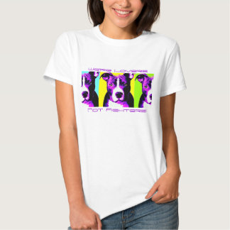 Camisa colorida do pitbull dos lutadores dos tshirts
