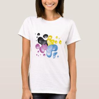 Camisa colorida do respingo