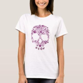 Camisa com um Scull bonito da flor