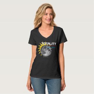 Camisa comemorativa do eclipse total 2017 da