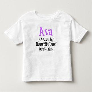 Camisa conhecida da descrição de Ava