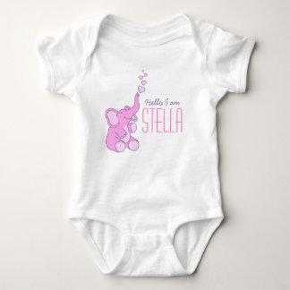 Camisa conhecida das meninas novas da boa vinda do body para bebê