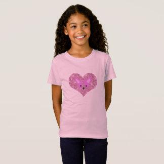 Camisa cor-de-rosa da chihuahua T da criança
