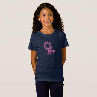 Camisa cor-de-rosa da consciência do cancro da