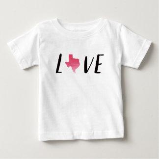Camisa cor-de-rosa da criança da aguarela de Texas
