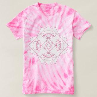 Camisa cor-de-rosa da ioga T da tintura do laço da