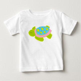 Camisa cor-de-rosa do algodão T da tartaruga de