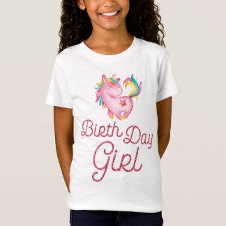 Camisa cor-de-rosa do aniversário do brilho com