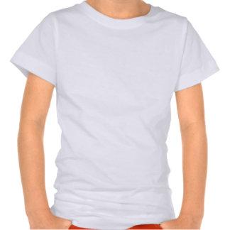 Camisa cor-de-rosa do coelhinho da Páscoa da silhu Tshirt
