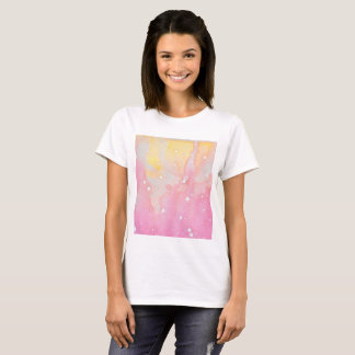 Camisa cor-de-rosa do Watercolour do Splatter