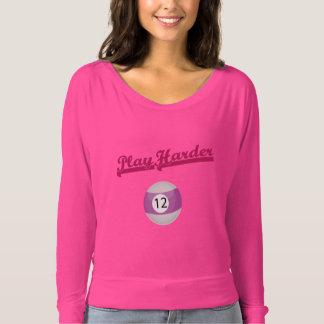 Camisa cor-de-rosa elegante e à moda do ombro do