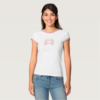 Camisa cor-de-rosa simples do ícone do carro