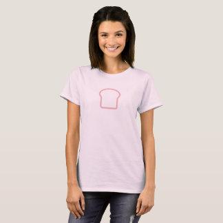 Camisa cor-de-rosa simples do ícone do naco