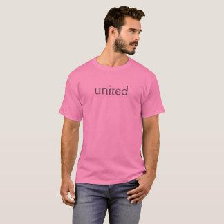 """camisa cor-de-rosa """"unida"""" do dia"""