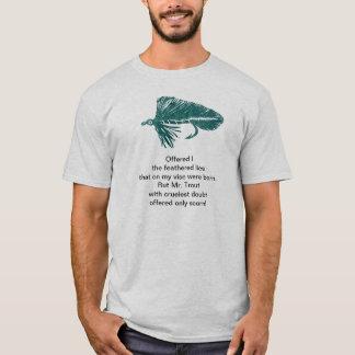 Camisa cruel da truta com a flâmula verde do