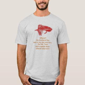 Camisa cruel do poema da truta com a flâmula