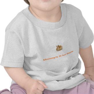 Camisa curta da luva do bebê com impressão do coel t-shirt
