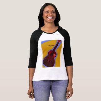 Camisa customizável #1 do Ukulele: Vermelho no