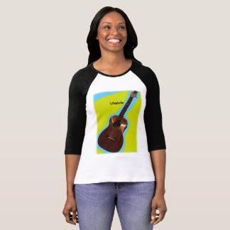 Camisa customizável #3 do Ukulele: Brown no limão