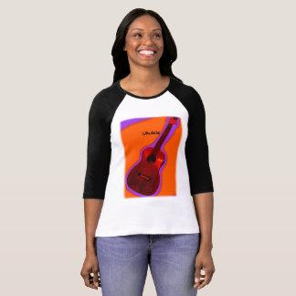 Camisa customizável #4 do Ukulele: Vermelho na