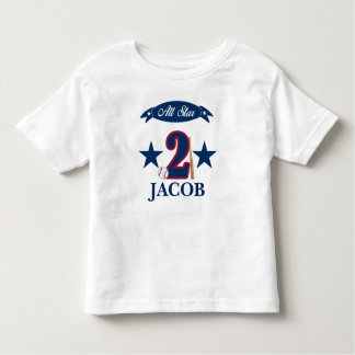 Camisa customizável do basebol do aniversário para