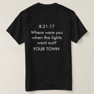 Camisa customizável do eclipse solar sua cidade