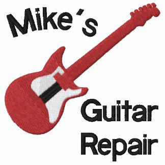 Camisa customizável vermelha do design da guitarra