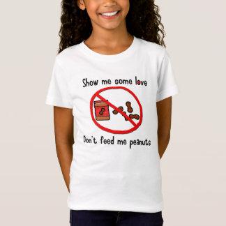 Camisa da alergia do amendoim (miúdos)