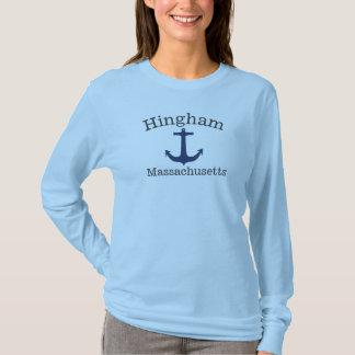 Camisa da âncora de mar de Hingham Massachusetts,