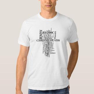 Camisa da arte da palavra de Chromeheads BMW Tshirt
