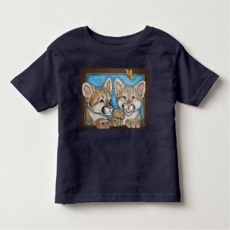 Camisa da arte T de Cubs do gato do puma do leão