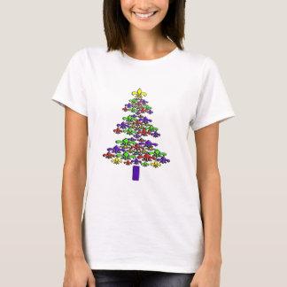 Camisa da árvore de Natal da flor de lis