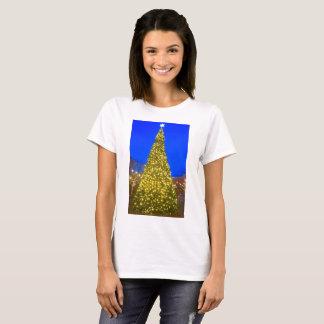 Camisa da árvore de Natal das mulheres