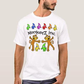 Camisa da banana e do macaco do arco-íris