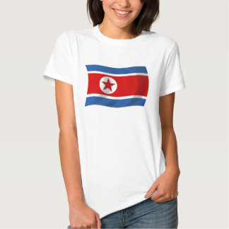 Camisa da bandeira da Coreia do Norte Tshirt
