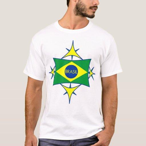 Camisa da bandeira de Brasil Tshirts