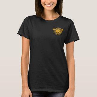 Camisa da bandeira de Fire/EMS - ouro afligido - W
