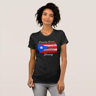 Camisa da bandeira do furacão forte de Puerto Rico