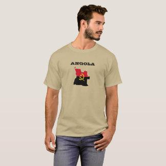 Camisa da bandeira do mapa de Angola