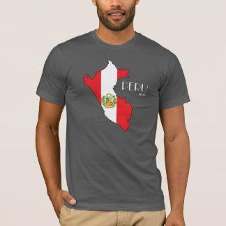 Camisa da bandeira do mapa de Peru
