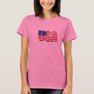 Camisa da bandeira dos Estados Unidos T dos EUA
