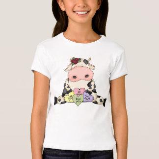 Camisa da boneca das meninas dos namorados da vaca tshirt