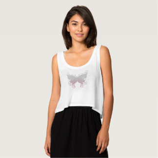 Camisa da borboleta do rosa Pastel & das cinzas