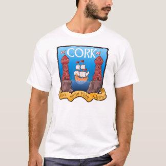 Camisa da brasão da cidade da cortiça