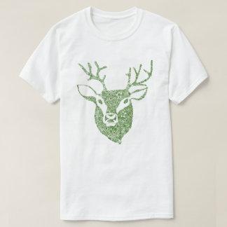 Camisa da cabeça T dos cervos da verde azeitona