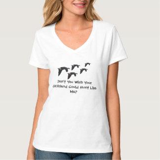 Camisa da caça da mulher - engraçada