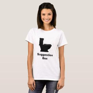 Camisa da caixa de sugestão